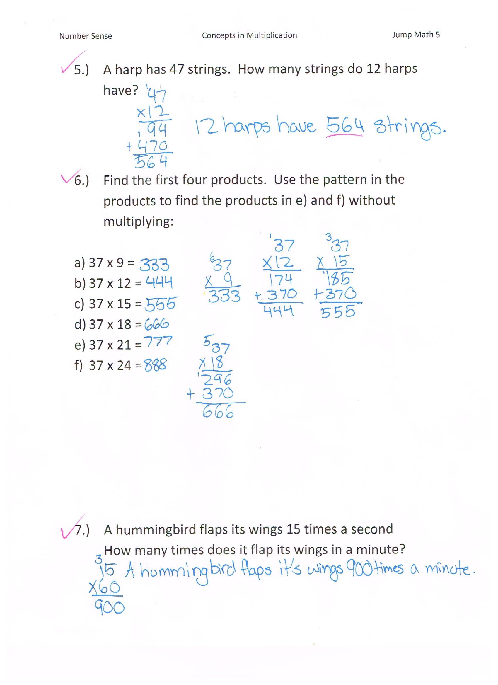 hight resolution of Books Mathematics Part 1 of 2 Book 6 JUMP Math 6.1