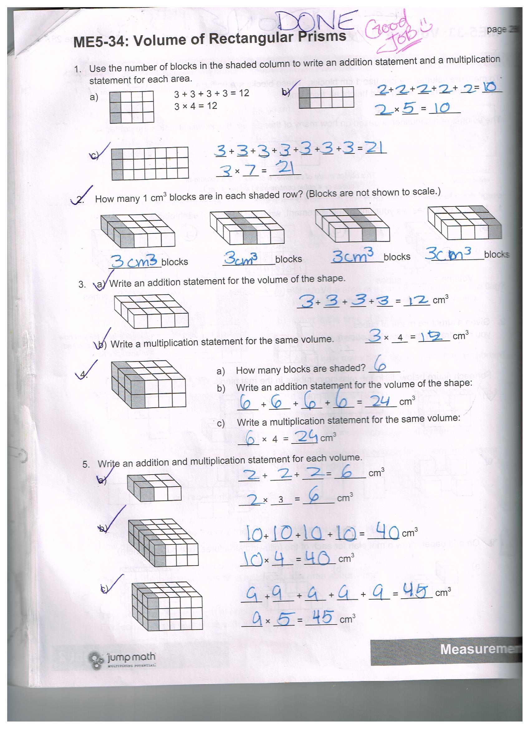 Jump Math 5 2 Sample Work