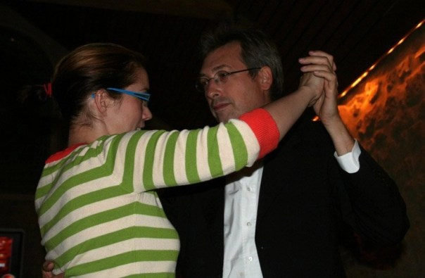 Guy Delcourt dances