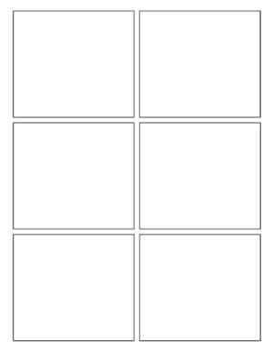 small png of a comics window (comics grid)
