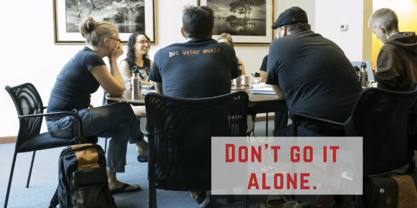 group work: don't go it alone