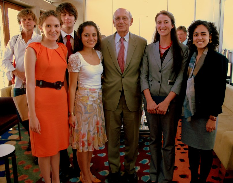 Group shot with Justice Breyer.