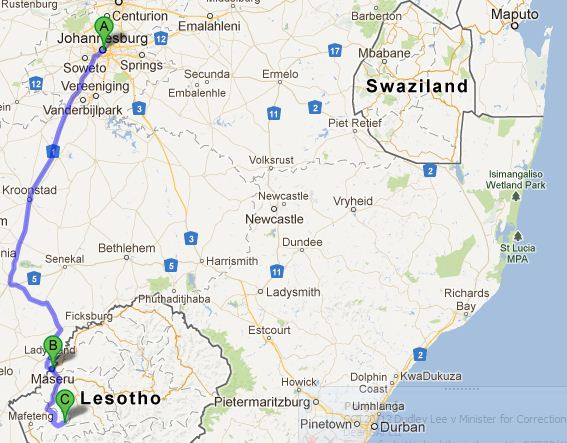 Joburg to Malealea = 510km in about 11hrs.