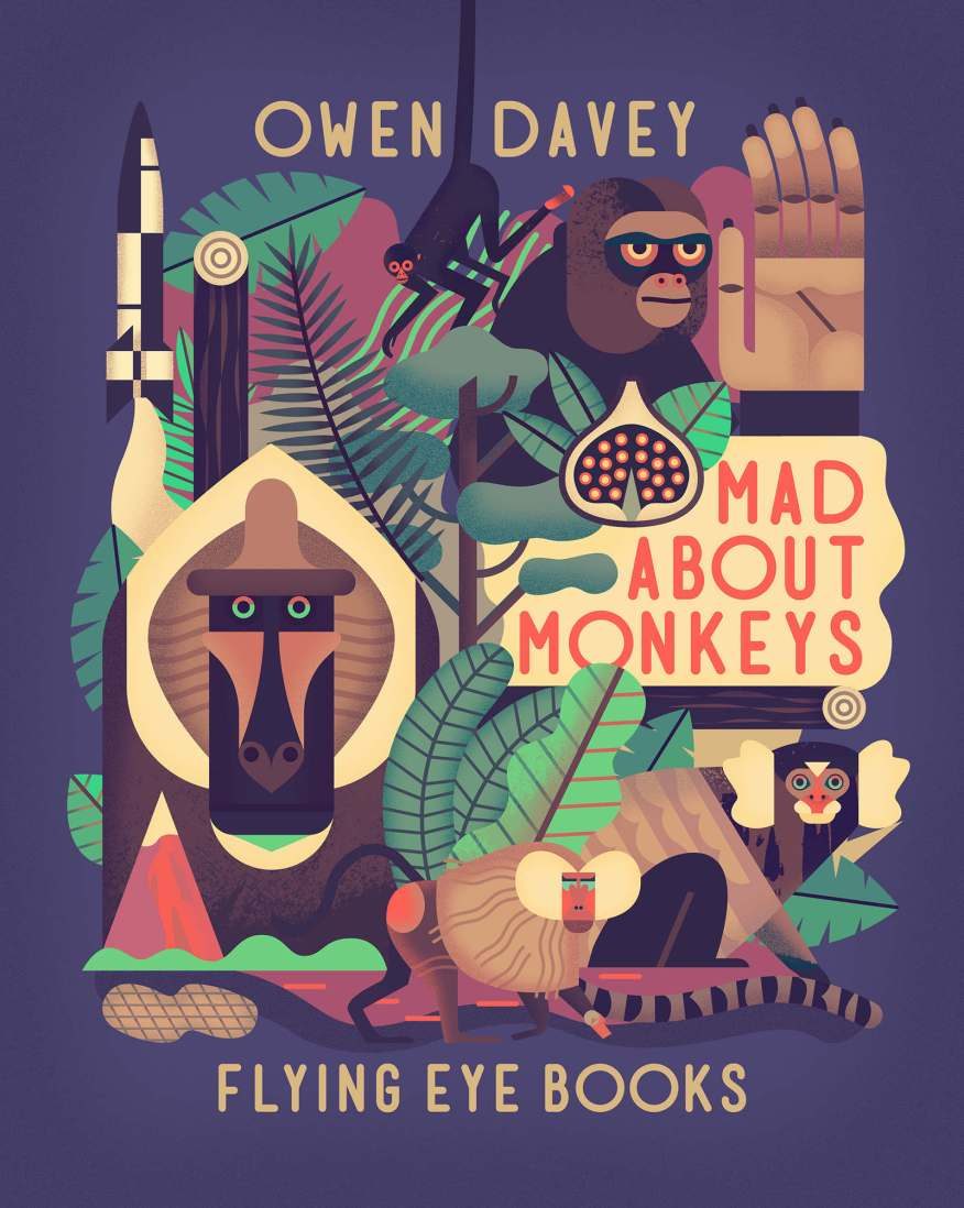 Cover art for Davey's Book Mad About Monkeys