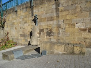 James Hill Sculpture on Bottle Bank