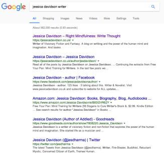 Google Jessica Davidson writer