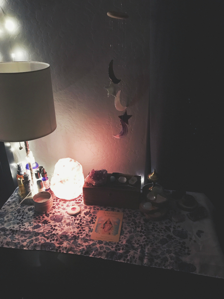 Sacred space from my nightly self-care routine