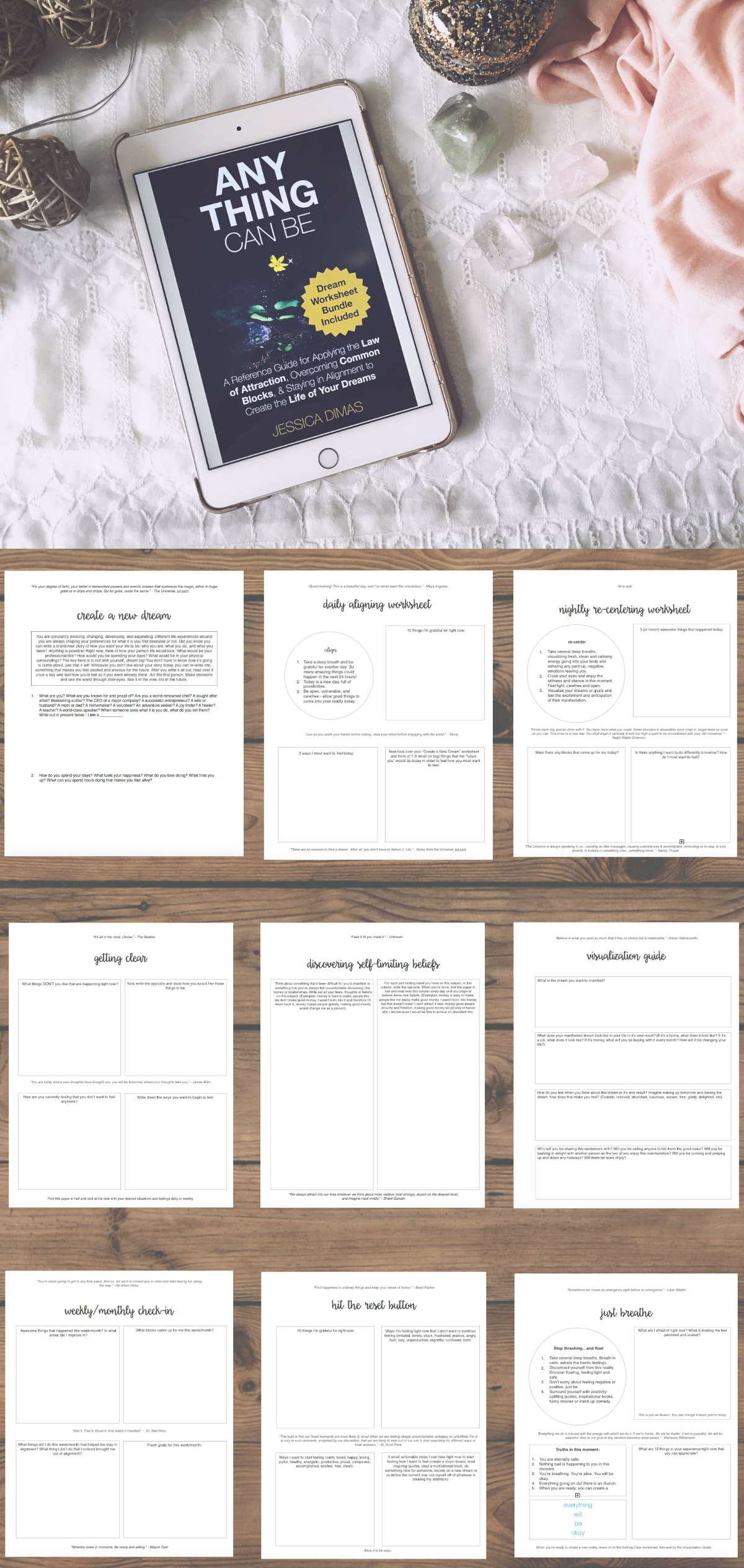 How I Organize My Law of Attraction Worksheet Bundle - Jessica Dimas