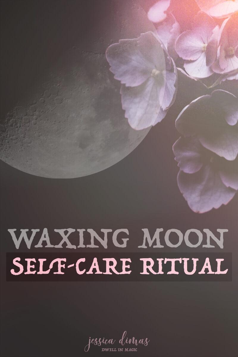 My sacred self-care ritual for the Waxing Moon #waxingmoon #moonritual #moonworksheets #selfcare #sacredselfcare #selfcareworksheets #lawofattractionworksheets