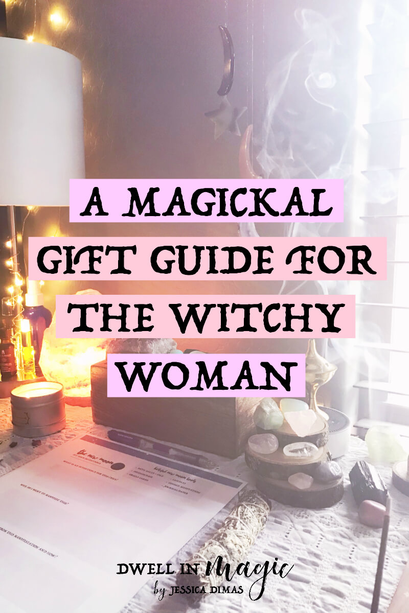A gift guide for the witchy women in your life - to enchant, connect, and ground #witchythings #witchywoman #witchyblogs #divinefeminine #giftguide #magick #magickal