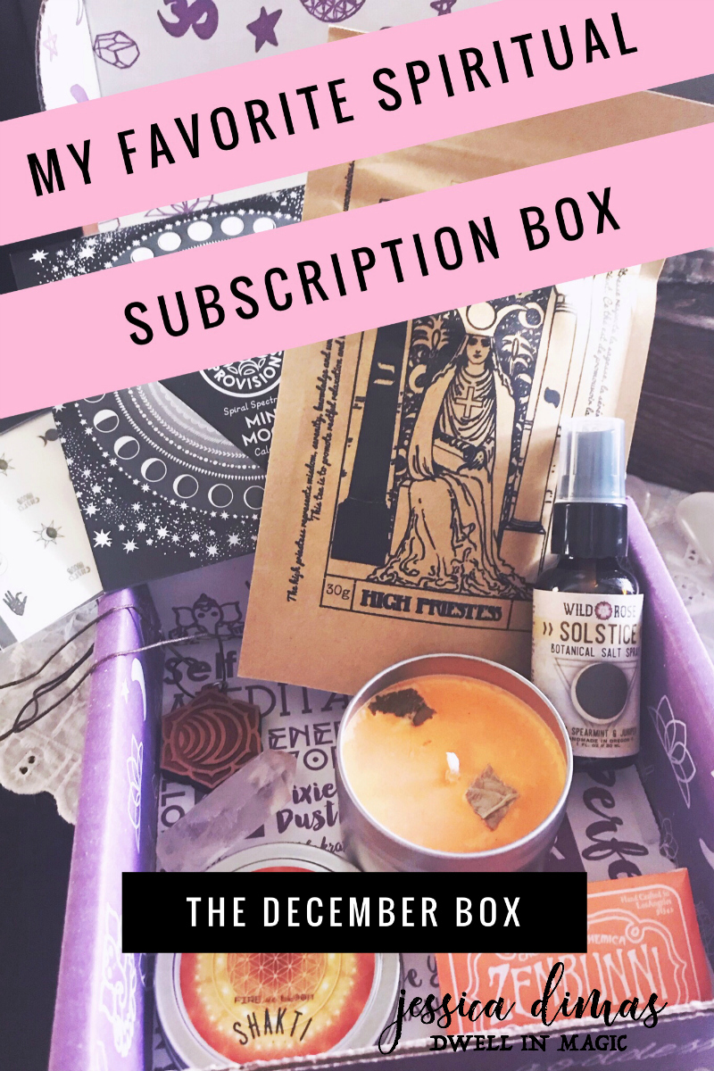 My favorite Spiritual subscription box - Goddess Provisions Review