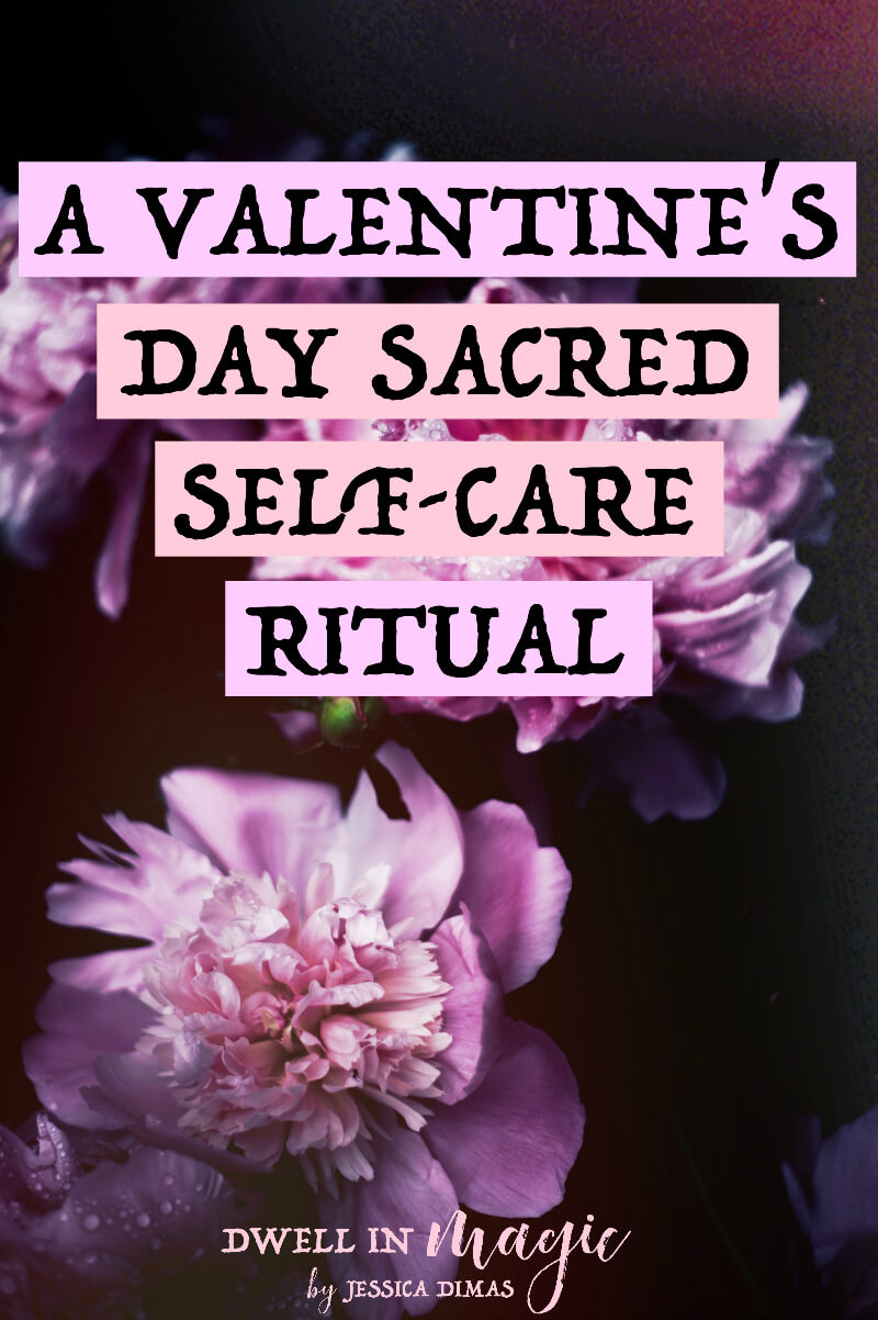 A sacred self-care ritual to love yourself this Valentine's Day - because self-love is the most important love #valentinesideas #valentinesday #valentinesdayritual #selflove #selfcare #sacredselfcare #witchythings