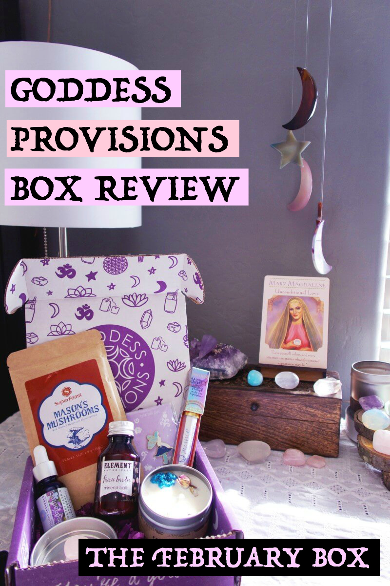 "My review for the February box from Goddess Provisions, themed ""Faerie Magick"" #goddessprovisions #subscriptionbox #witchyblogs #witchythings #selfcareblog #sacredselfcare #divinefeminine"