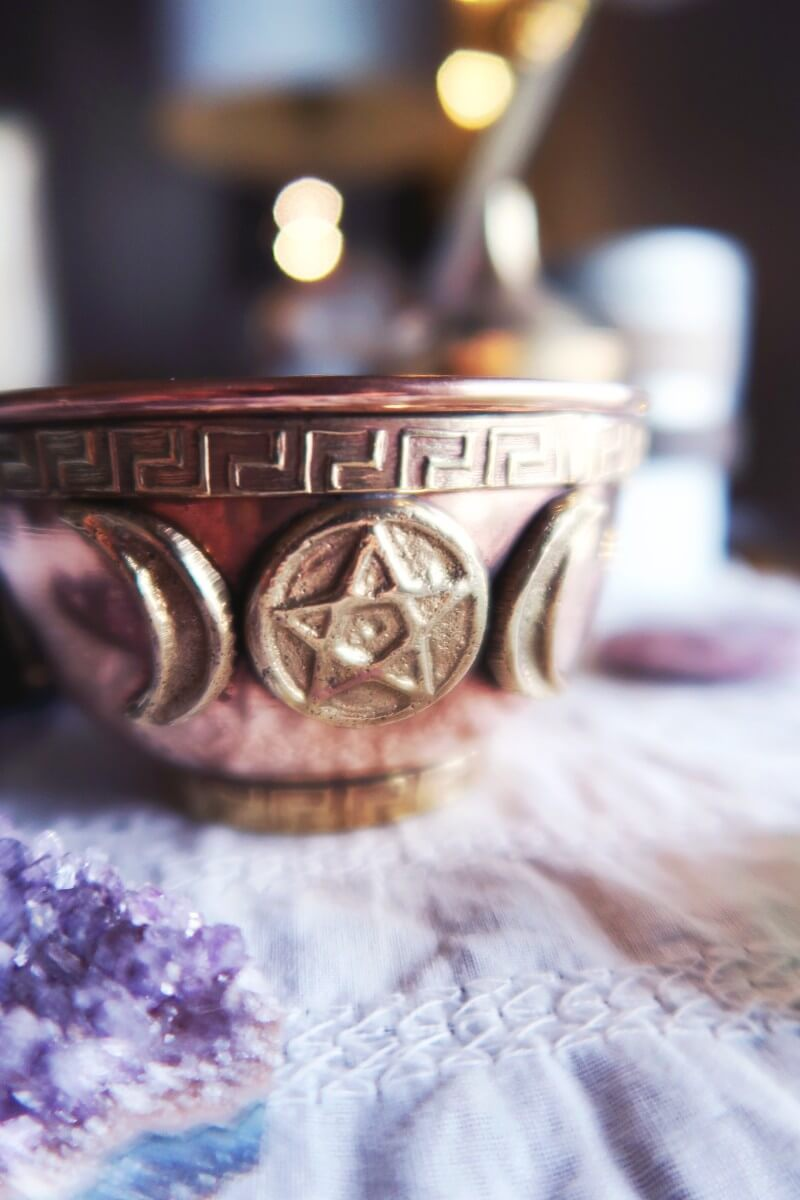 Triple goddess offering bowl