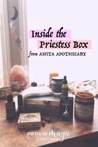 Priestess Box Anita Apothecary #subscriptionbox #witchybox #witchythings #witchcraft #witchywoman #anitaapothecary #dwellinmagic