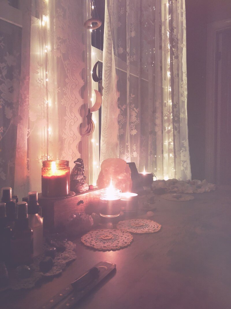 Dwell in Magic witchy self-care routine
