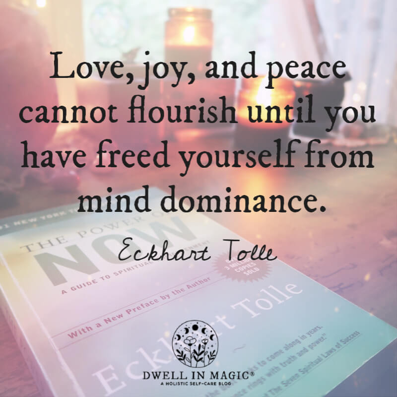 Love, joy, and peace Eckhart Tolle quote