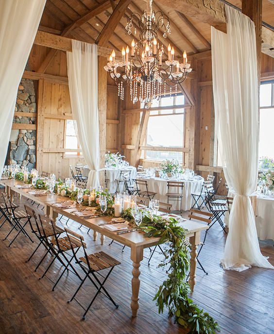 Rustic Barn Wedding with draped fabric and garland | 11 Tips to Personalize Your Wedding - Jessica Dum Wedding Coordination #weddingtips