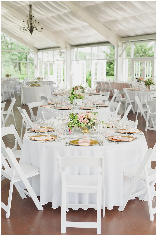 Blush and gold garden pavilion wedding   Ritz Charles Garden Pavilion Wedding by Stacy Able Photography & Jessica Dum Wedding Coordination