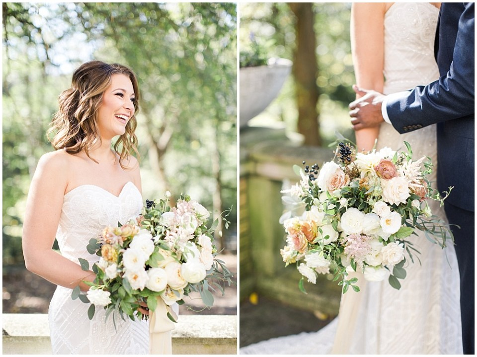 Ivory + neutral wedding bouquet   Navy and Gold Wedding at Laurel Hall with Ivan & Louise Photography + Jessica Dum Wedding Coordination