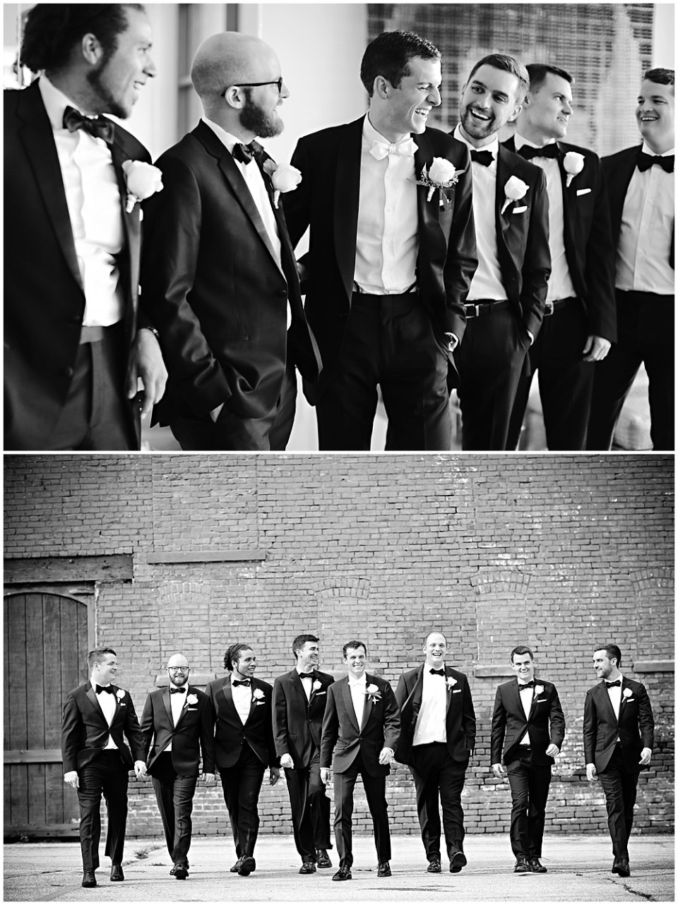 black tux groomsmen, the alexander hotel wedding, Morgan + Julian