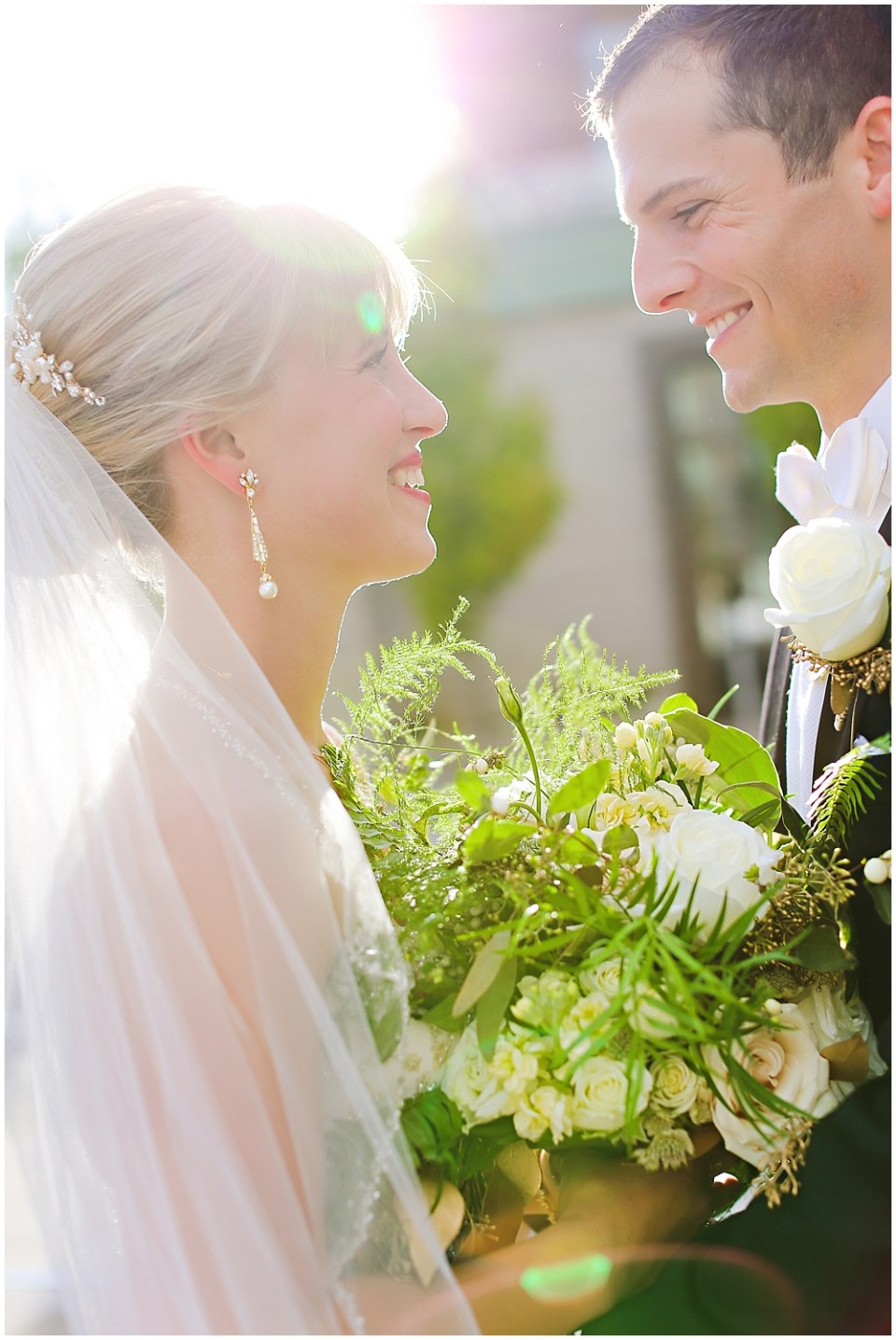 bride and groom portrait, the alexander hotel wedding, Morgan + Julian