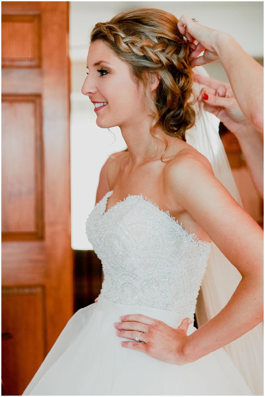 Bride getting ready   Chicago urban rustic wedding  Sandra Armenteros Photography   Jessica Dum Wedding Coordination