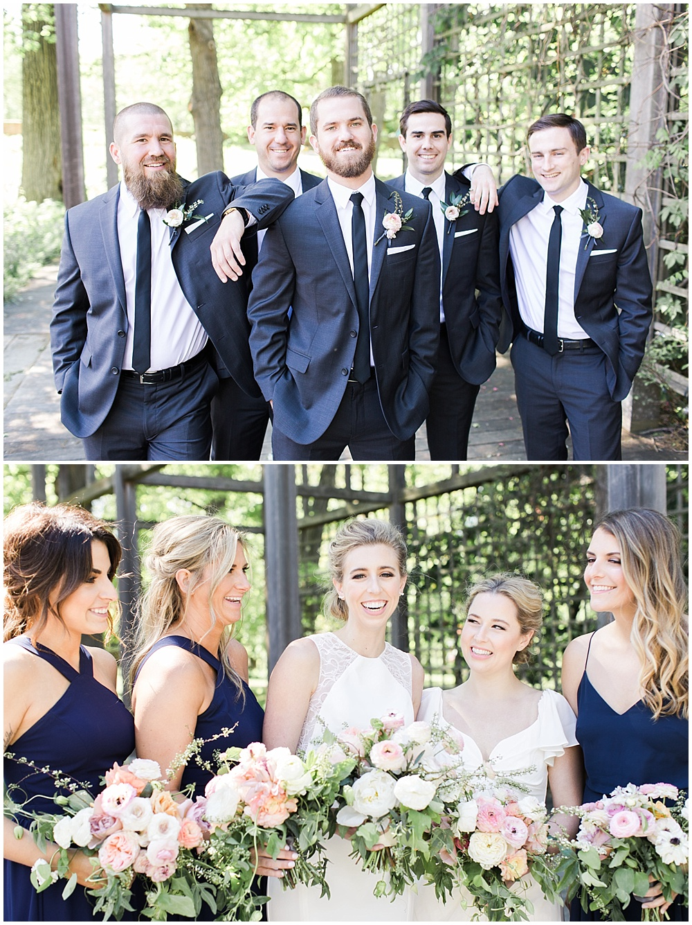 navy bridesmaids dresses, Spring floral + gold wedding | Ivan & Louise Images | Jessica Dum Wedding Coordination