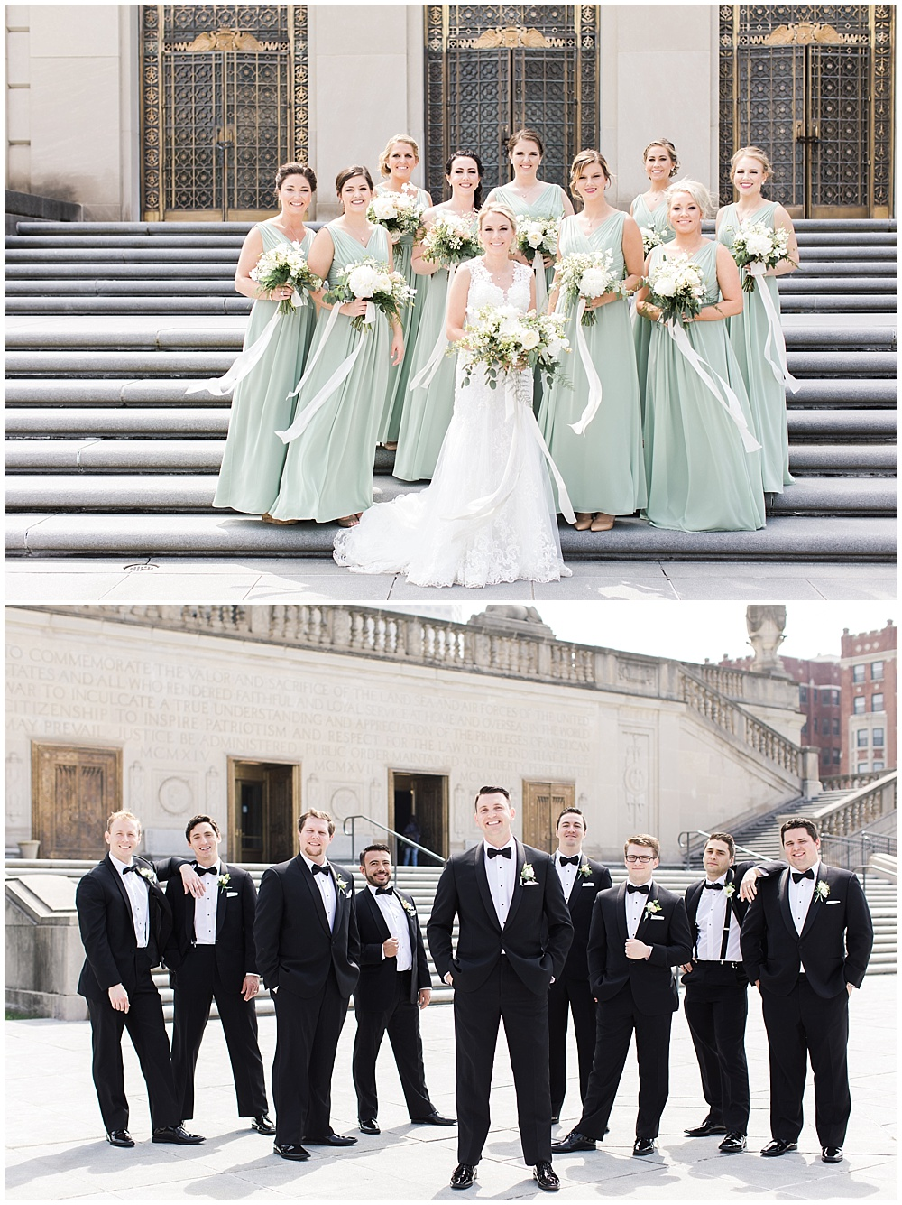 bridal party portrait | floral and greenery wedding| Ivan & Louise Images and Jessica Dum Wedding Coordination