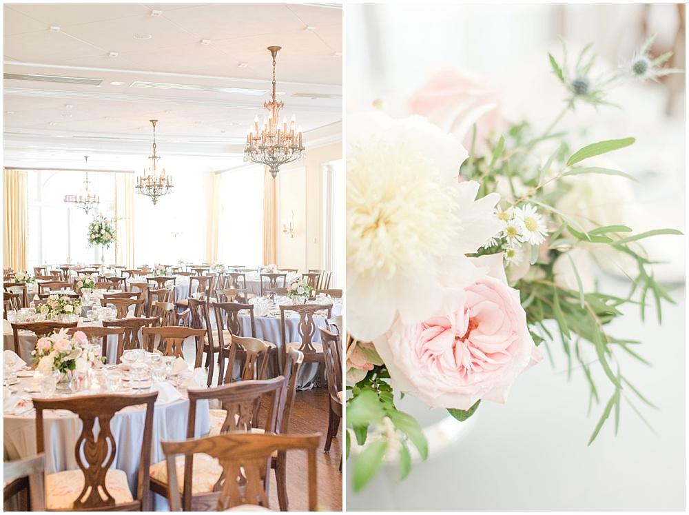 Blush and white wedding flowers; gray and pink woodstock club wedding   Sami Renee Photography + Jessica Dum Wedding Coordination