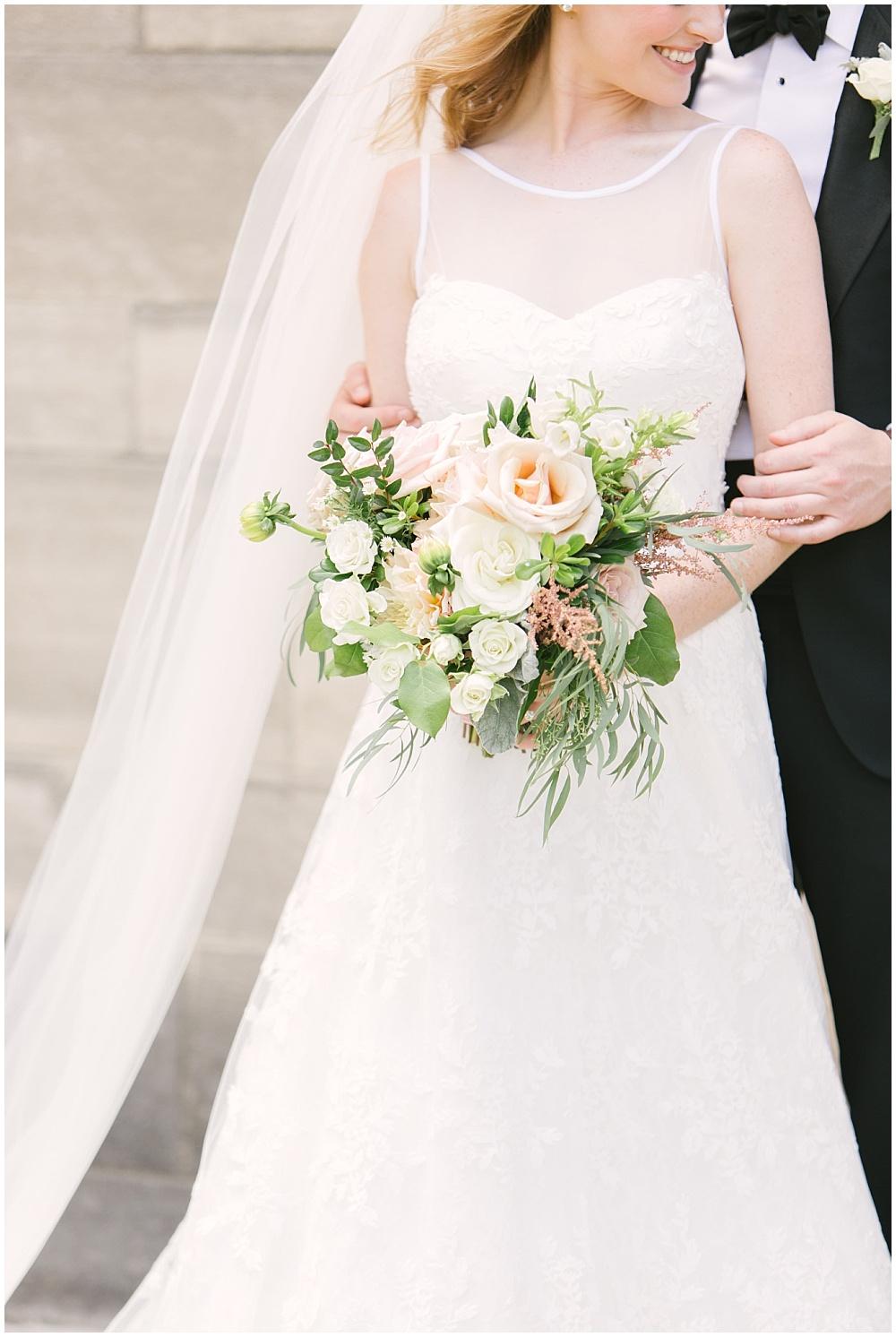 Navy + blush wedding alongside Traci & Troy Photography