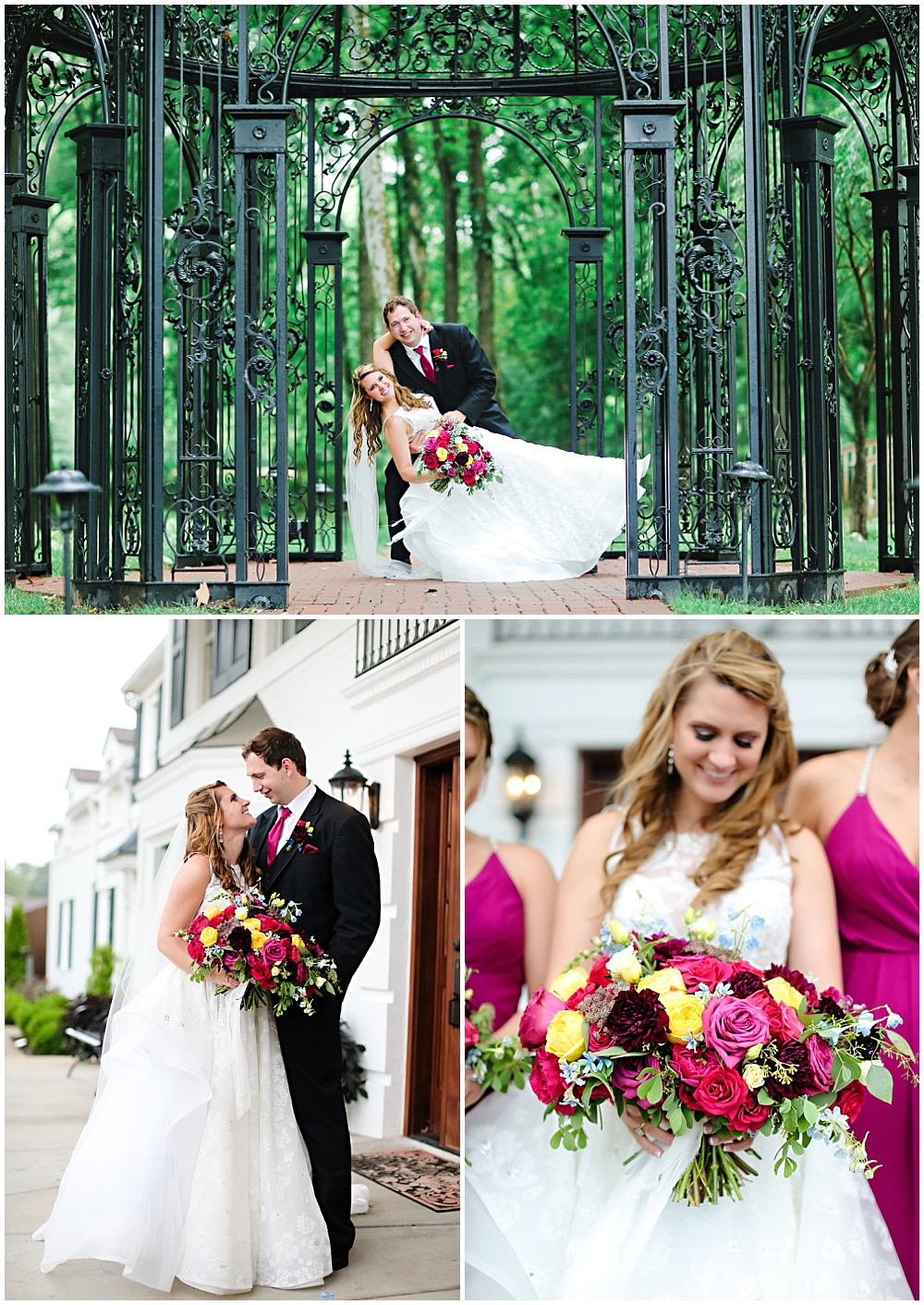 Colorful Carmel Indiana wedding alongside Jessica Strickland Photography | bride and groom portraits