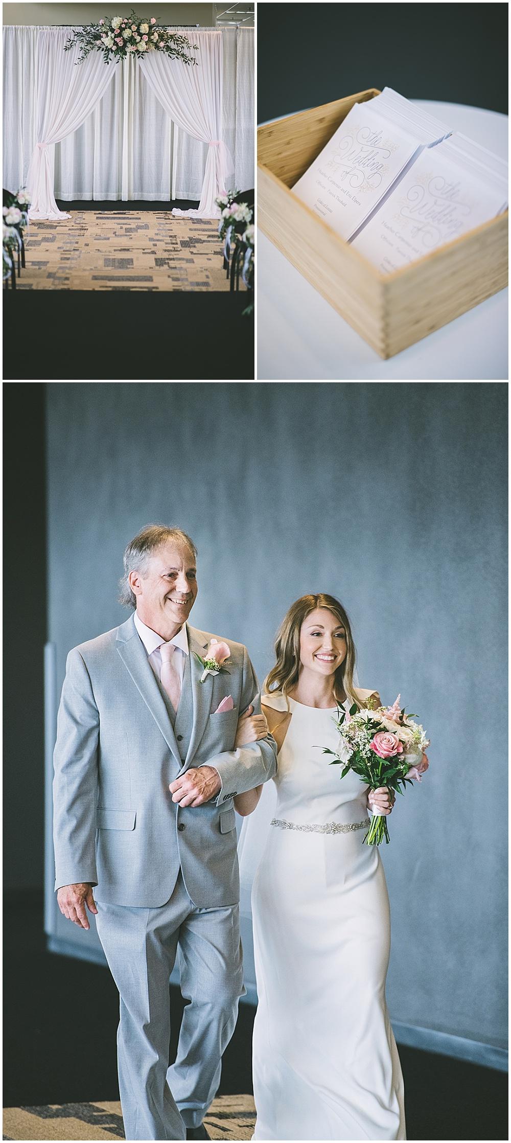 A garden-inspired Purdue University wedding | Purdue alumni wedding, shively club wedding, boilermaker wedding, blush wedding, ceremony draping