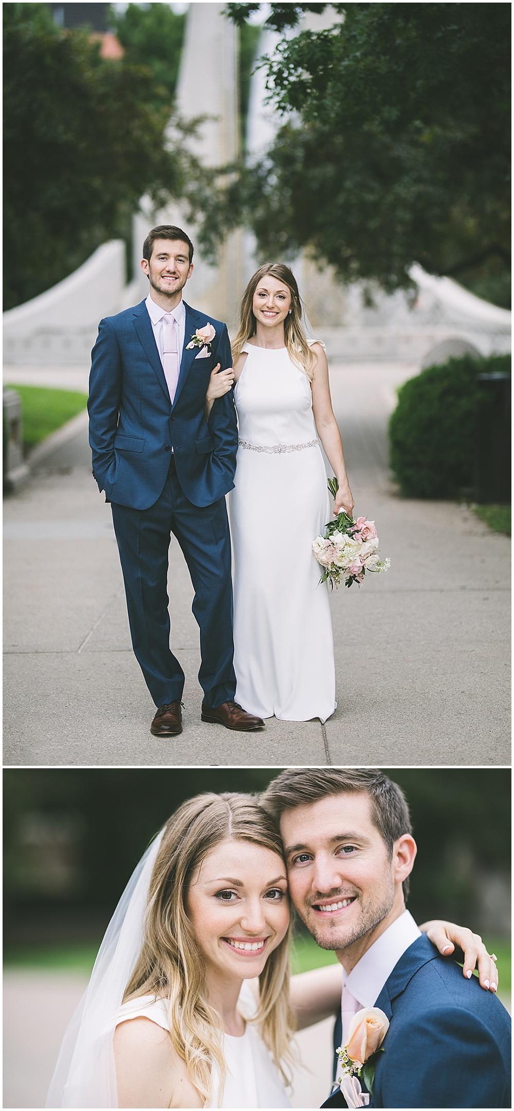 A garden-inspired Purdue University wedding | Purdue alumni wedding, shively club wedding, boilermaker wedding, blush wedding, bride and groom