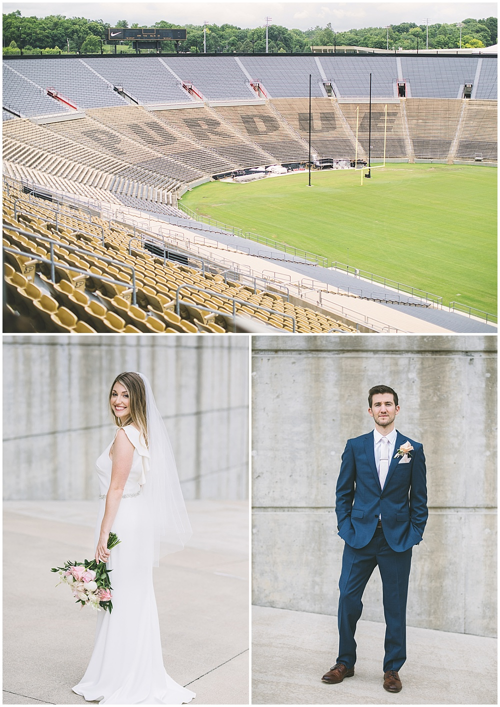 A garden-inspired Purdue University wedding | Purdue alumni wedding, shively club wedding, boilermaker wedding, blush wedding, bride and groom portraits