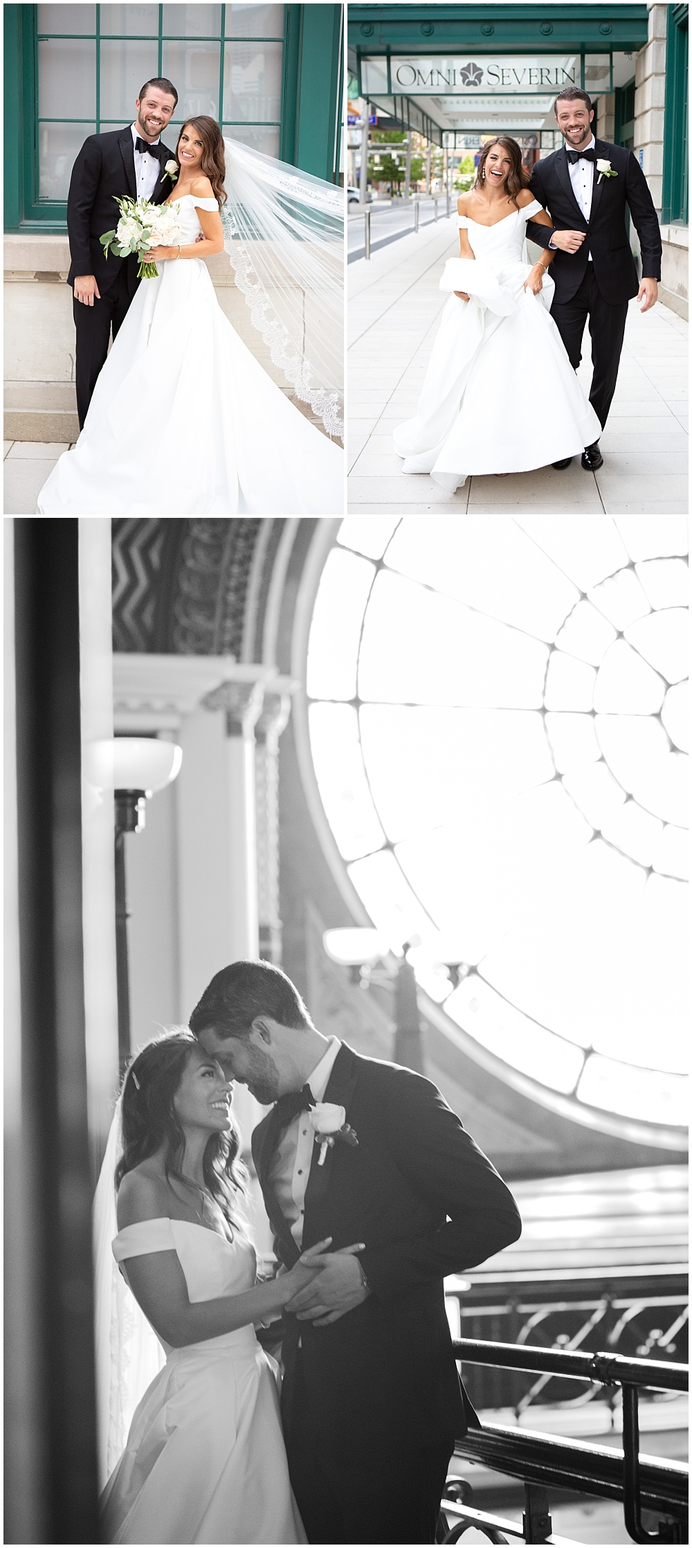 A classic downtown Indianapolis wedding with soft neutrals and the most breathtaking bride.