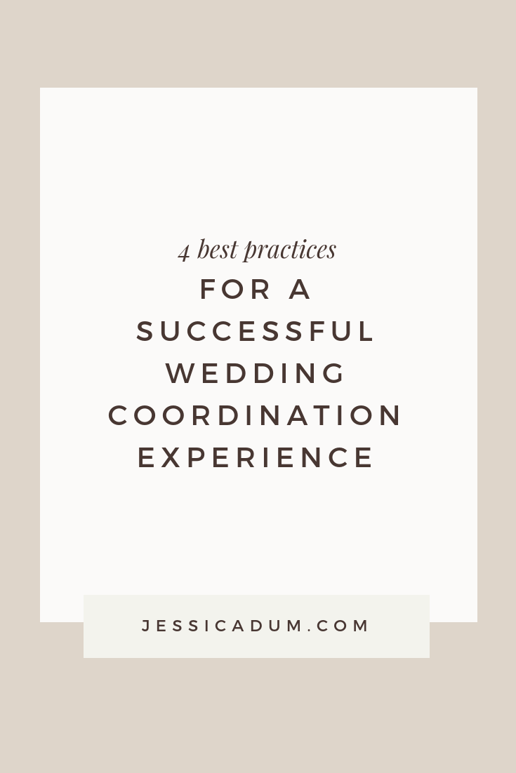 ON THE BLOG: 4 Best Practices for a Successful Day of Wedding Coordination Experience! | Today's post is for bride's planning their wedding - we're sharing our best advice for a smooth wedding coordination experience with your DOC!
