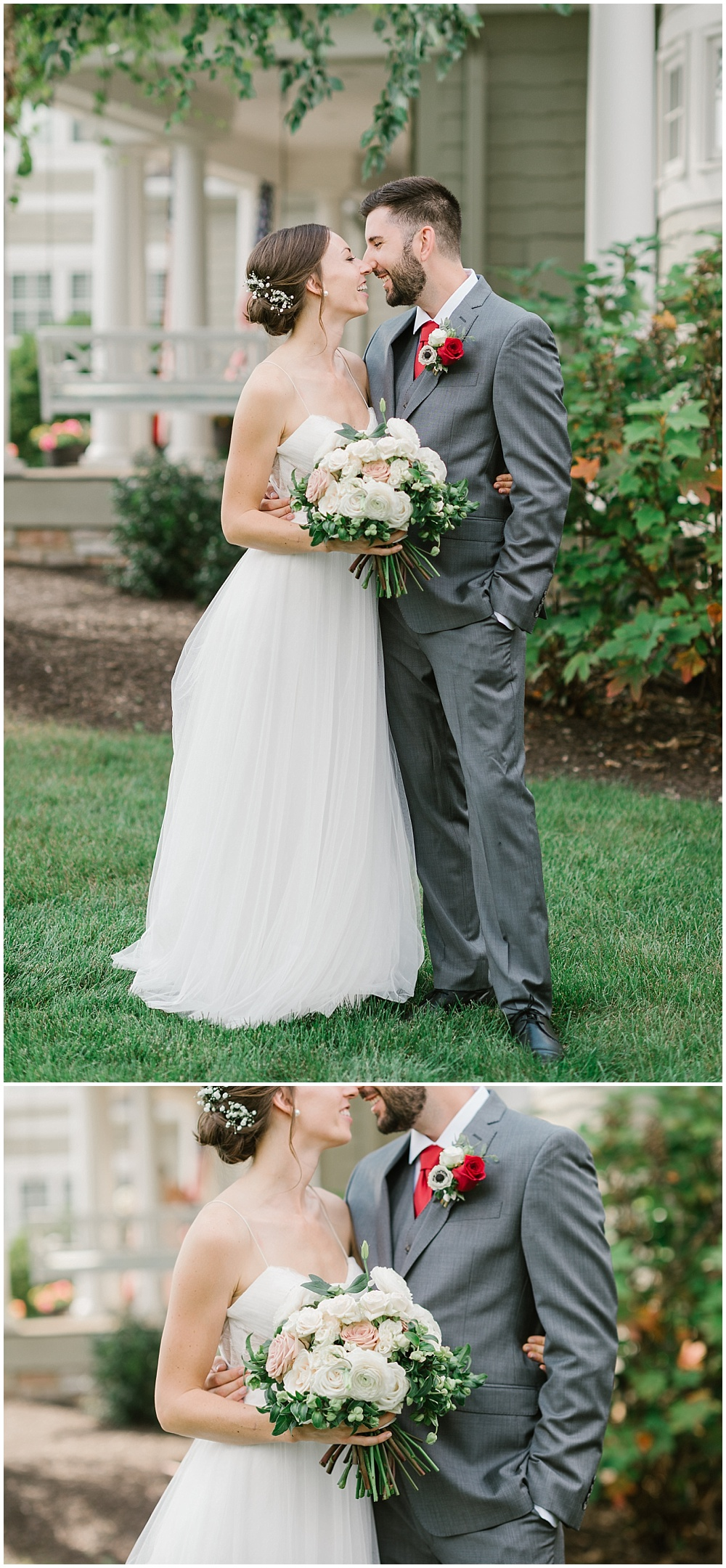 Bride and groom first look Fall garden-inspired wedding at the Ritz Charles Garden Pavilion in Carmel, Indiana   Jessica Dum Wedding Coordination