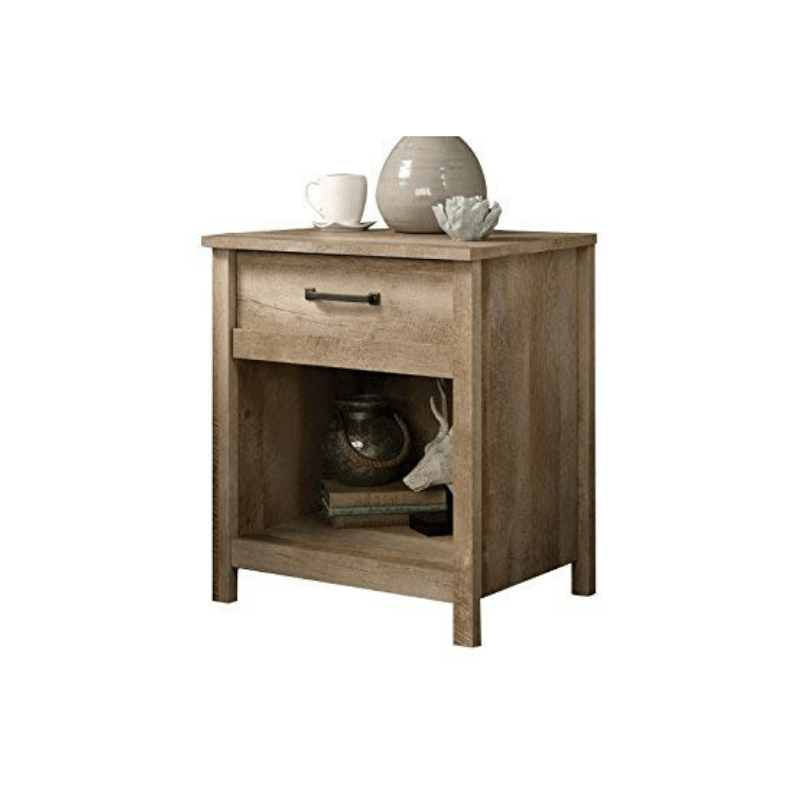 The best driftwood night stand that's durable AND pretty. The Sauter Home night stand adds the most subtle faux farmhouse look to any bedroom or living room. See all of our must-have items for your Amazon wedding registry!