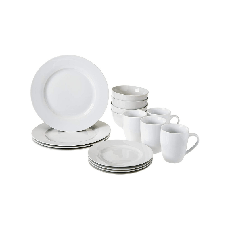 Basic white china that's timeless, pretty AND cheap is what every new bride should register for. Trust us when we say you'll be grateful to have basic, white china for hosting dinner parties, family gatherings and even casual meals in. See all of our must-have items for your Amazon wedding registry!
