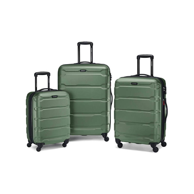 Must-have set of rolling luggage, with an array of color options. Whether you're traveling solo or as a family, travel in style with coordinating rolling luggage! See all of our must-have items for your Amazon wedding registry!