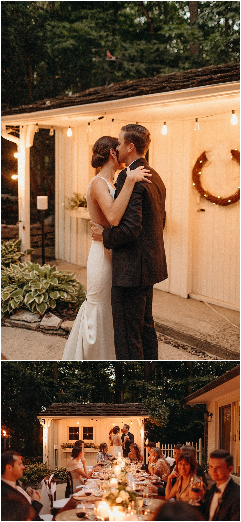 Intimate at-home summer wedding with Sarah Kriner Photography.