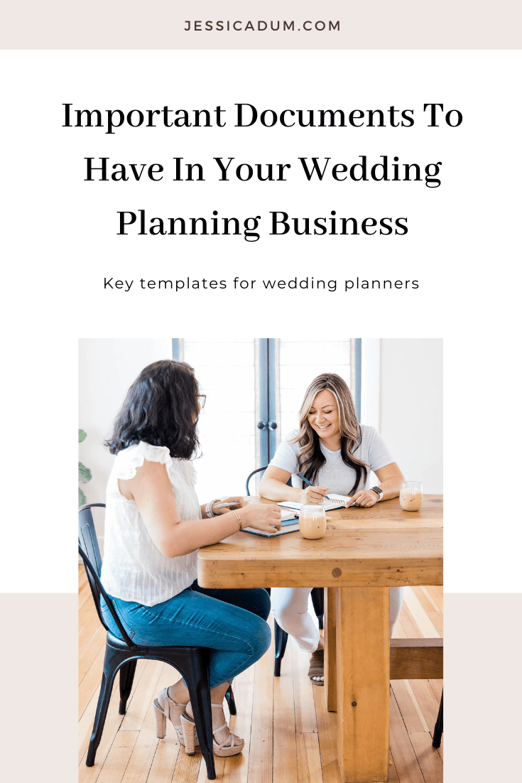 Important Documents To Have In Your Wedding Planning Business - Jessica Dum Education