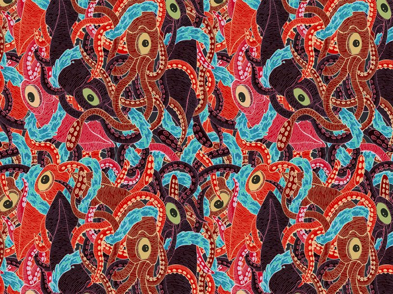 Squid Pattern by Jessica Fortner