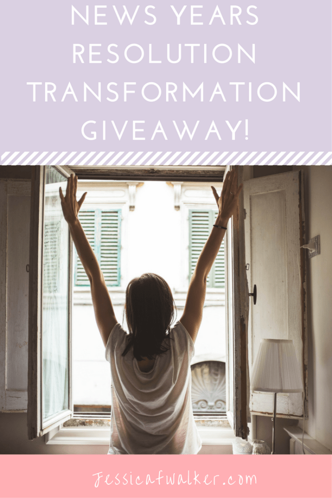 New Year Resolution Transformation Giveaway | jessicafwalker.com | giveaway | life coach | career coach | e-courses | prizes | gratitude | empowerment | success