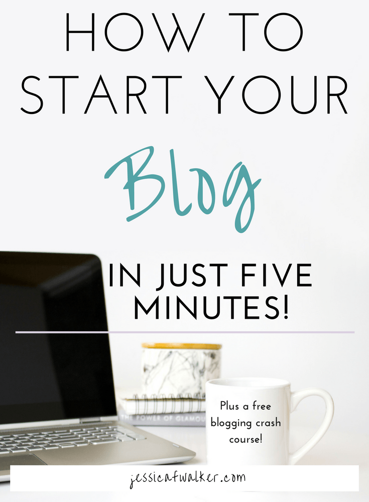 How to start a blog in 5 minutes, using bluehost to start a blog, side hustle series, blogging 101 course, how to make money blogging on bluehost wordpress, jessicafwalker.com | gratitude | empowerment | success, blog
