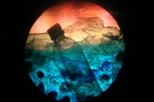 """still from show """"plasticity now"""", mixed media on overhead projector, 2008. www.mindofasnail.org"""
