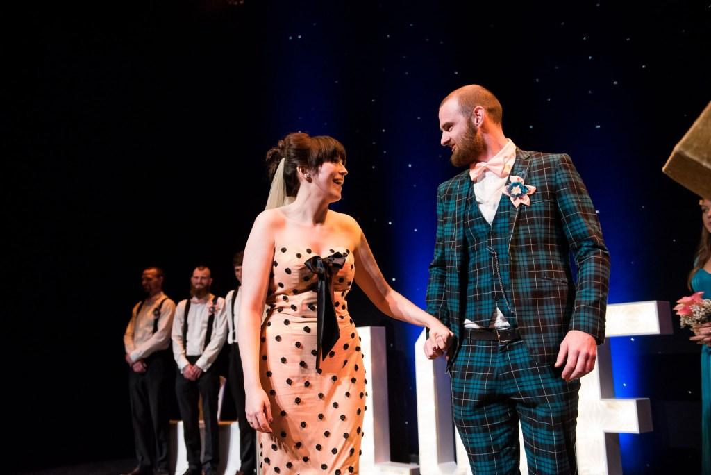 Alternative wedding ceremony Wilde Theatre Berkshire