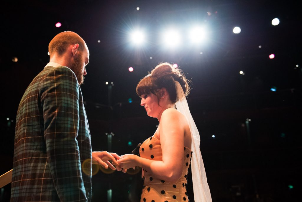 Untraditional wedding ceremony Wilde Theatre Bracknell