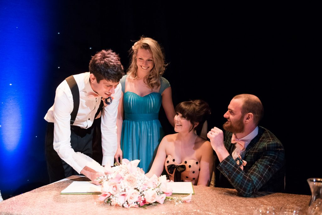 Alternative wedding Wilde Theatre Bracknell